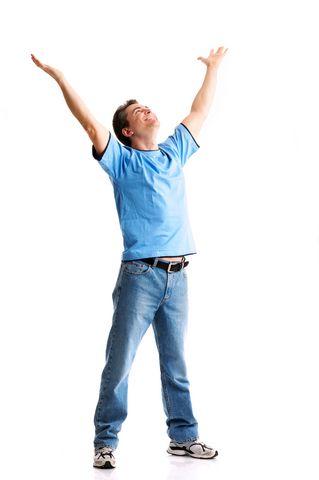 אדם מאושר שהצליח