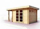מבנה לבריכה : חדר וגג פרגולה