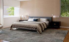 שטיח טלאים לחדר שינה