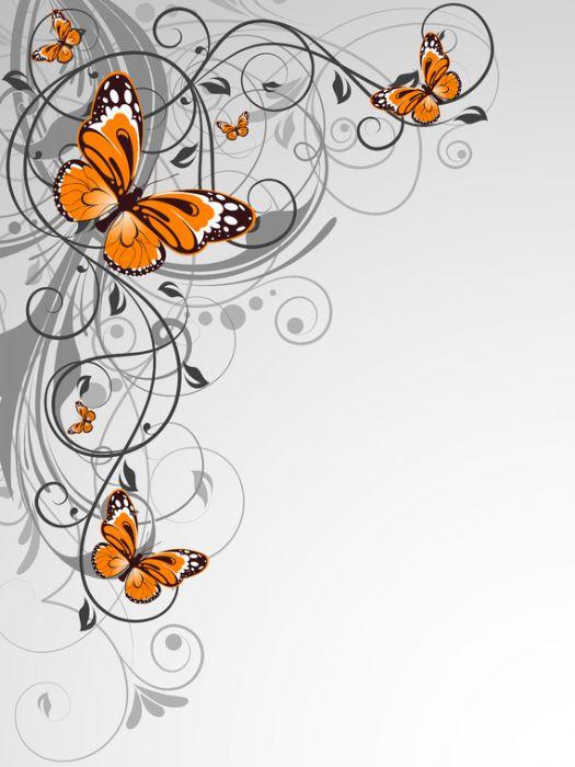 פרחים ופרפרים