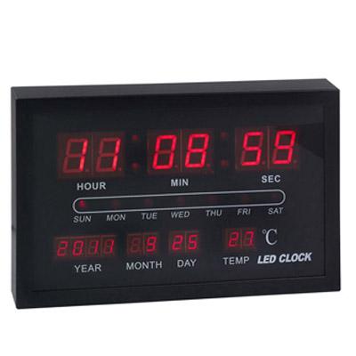 BZ2077 - שעון קיר ותאריכון דיגיטלי