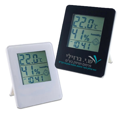 BZ1459 - שעון עם מד מעלות ומד לחות