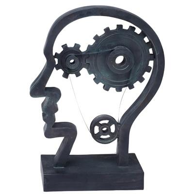 """3530 - פסל """" גלגלי המוח וראש האדם"""""""