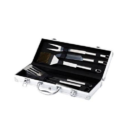 BN3070 - סט כלי BBQ במזוודת אלומיניום