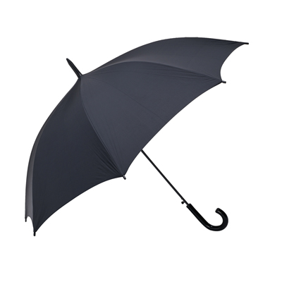 BZ2940-מטריה שחורה ידית  מקל  סבא