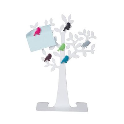 "BZ2662 - ""עץ הציפורים"" ממתכת לבנה"