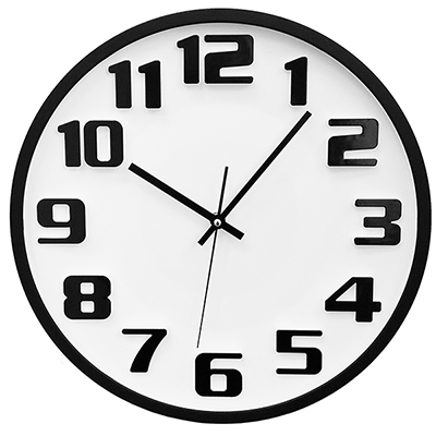 BZ2849 - שעון קיר לבן