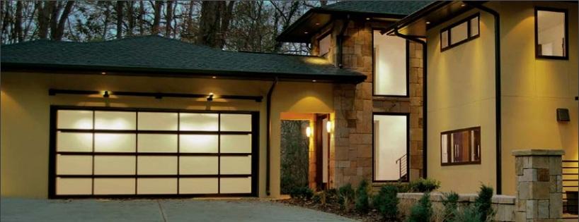 glass and aluminum garage doors