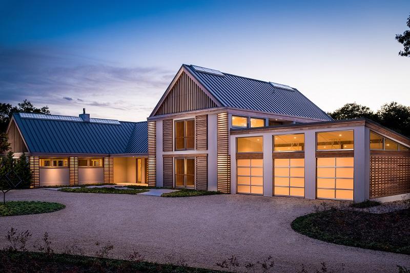 elegant glass garage door