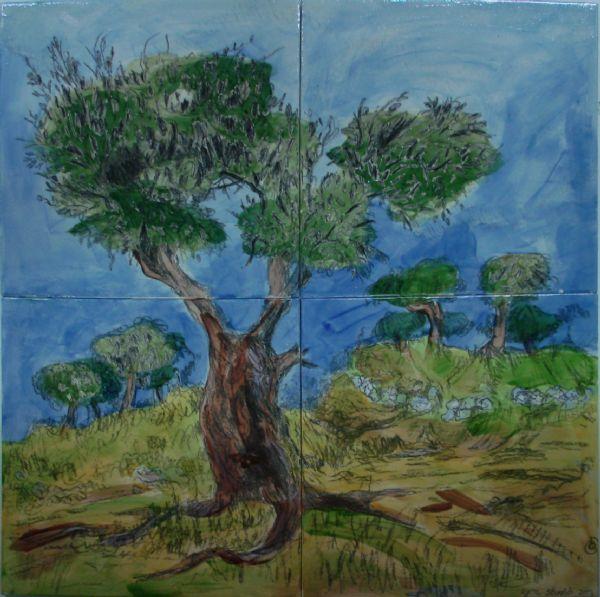 ציור עץ זית