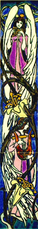 עמוד מלאכים ססגוני