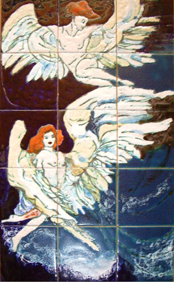 שני מלאכים במעופם