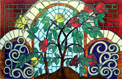 קיר חלון ושיח ורד עיצוב לירה סטודיו