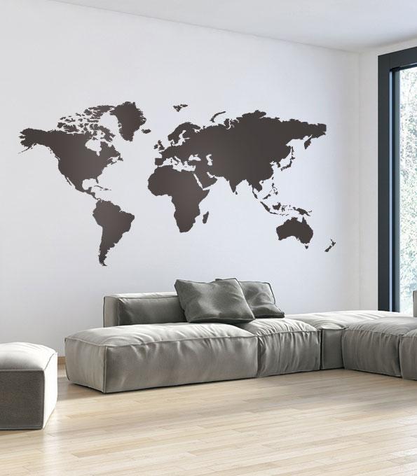 מדבקות קיר מפת עולם