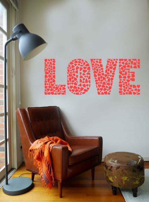 מדבקות קיר אהבה