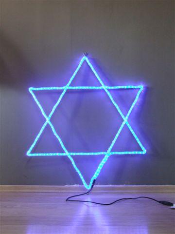 מנורה חשמלית מגן דוד ליום העצמאות