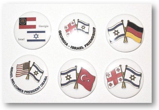 סיכות כפתור שני דגלים