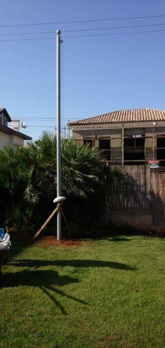 התקנת תורן בבית השגריר היווני בהרצליה פיתוח