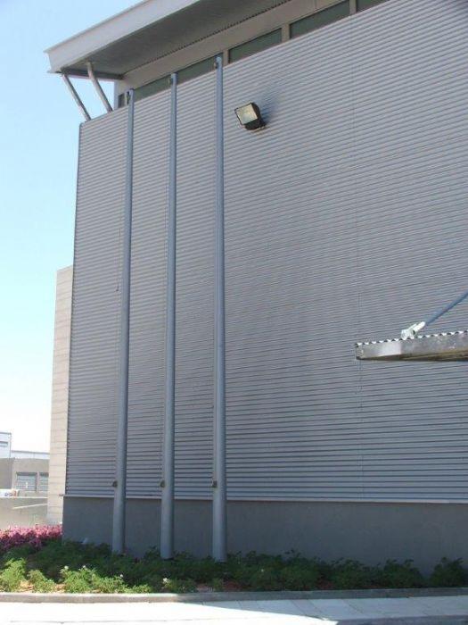 התקנת תרני פלדה קוני  - חברת ברס באזור תעשייה חבל מודיעין