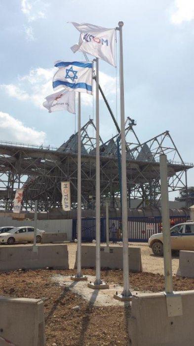 התקנת תרני אלומיניום קוני בתחנת כח דליה אתר צופית