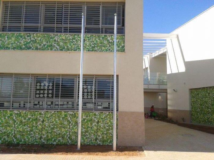 תורן פלדה קוני גובה 6 מטר התקנה בבית הספר הירוק בראשון לציון