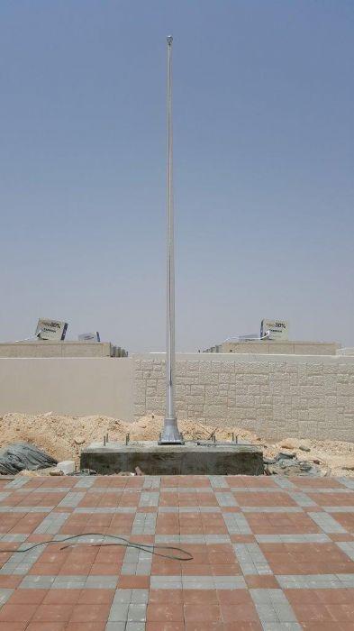 תורן אלומיניום קוני בגובה 8 מטר עם בסיס יצוק התקנה בבסיס סיירים בנגב (20)