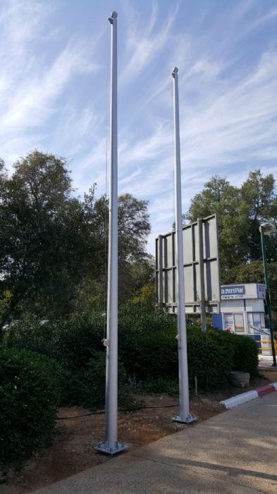 תרני אלומיניום 6 מטר לאוניברסיטת תל אביב שער 8