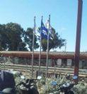 התקנת תורן בתחנת רכבת נתניה מזרח