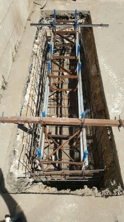 תורן פלדה קוני גובה 8 מטר התקנה במשטרת רמלה