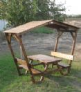 """שולחן קק""""ל ופרגולה עצים 5*15"""