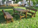 שולחן גינה מעץ מלא 75*150