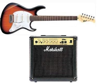חבילת גיטרה חשמלית + מגבר 2