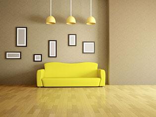פרקט עץ בסלון הבית