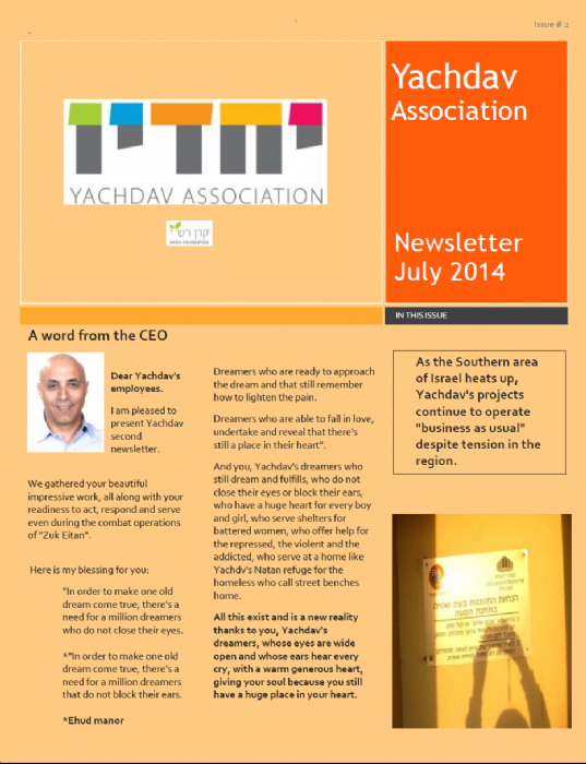 Newsletter YACHDAV 2 ENGLISH