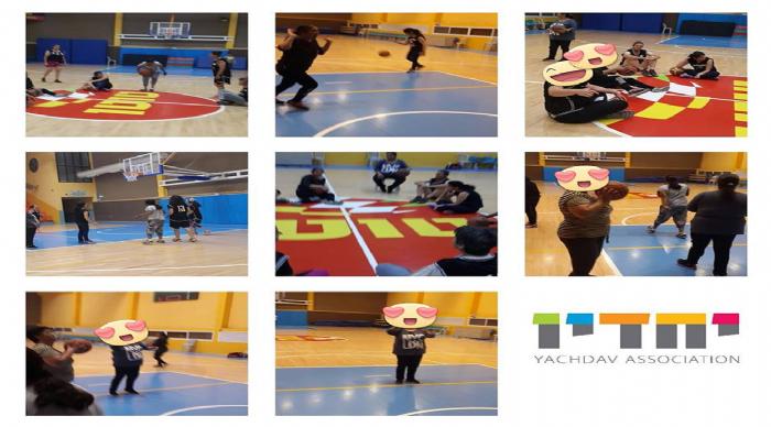 קבוצת כדורסל נשים ירוחם ודיירות בית רקפת יחדיו.