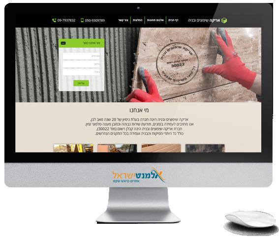 בניית אתר תדמית - אריקה