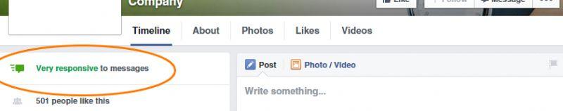 דף פייסבוק פעיל לדוגמא