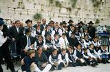 Guests from France celebrating in a collective Bar Mitzvah at the Wailing Wall Thank you to Chai Foundation