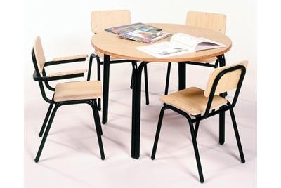 שולחן גן רגליים שחורות