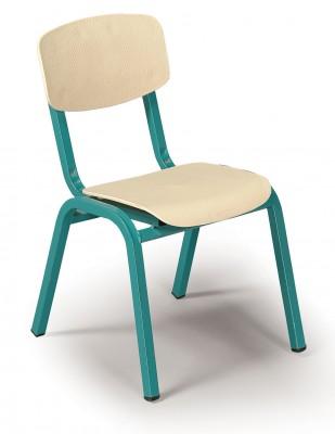 כסא גן מתכת ופלסטיק