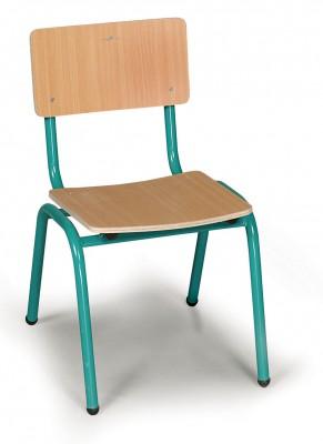 כסא גן מתכת ועץ