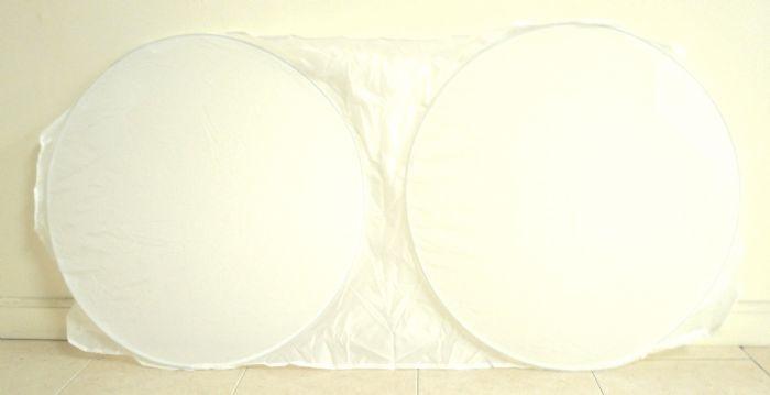 מגן שמש משקפיים לבן