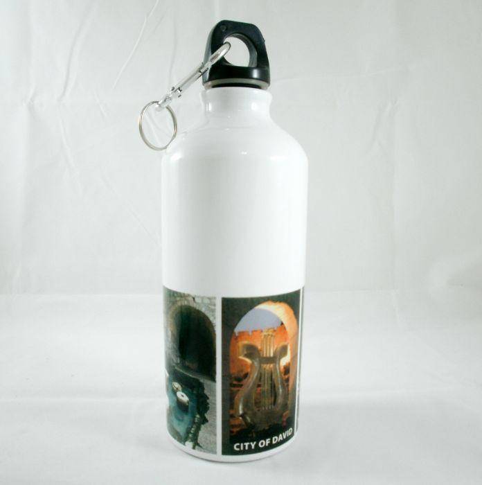 בקבוק נירוסטה לבן פיה מתברגת