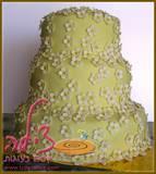 עוגת חתונה - 400 פרחים! - Wedding cake - 400 flowers!