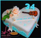 עוגת יום הולדת לבעל אהוב