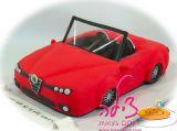 עוגת מכונית אלפא רומיאו ליום הולדת של בעל אהוב. הכל אכיל! Alfa Romeo car cake
