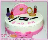 עוגת כלי איפור ליום הולדת של מיה - Makeup cake for Maya´s birthday