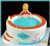 Jacuzzi birthday cake. עוגת ג´קוזי ליום הולדת של בעל אהוב