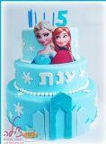 עוגת הנסיכות אנה ואלזה