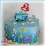 עוגת בת הים לפי בקשתה המדויקת של איה שהשתתפה גם בהכנת העוגה